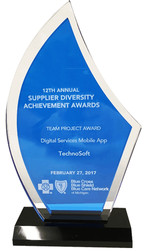 Blue Cross Blue Shield of Michigan Recognizes Technosoft with Team Project Award